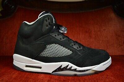 details for multiple colors classic fit CLEAN Nike Air Jordan 5 V Retro Size 11 Oreo 136027-035 Black ...