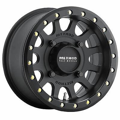 4//156 Method Race Wheels 401 Beadlock Wheel 15x7 4.0 3.0 Matte Black