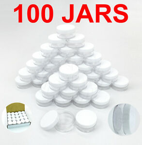 100pcs-10-Gram-10ML-High-Quality-Makeup-Cream-Cosmetic-Sample-Jar-Containers
