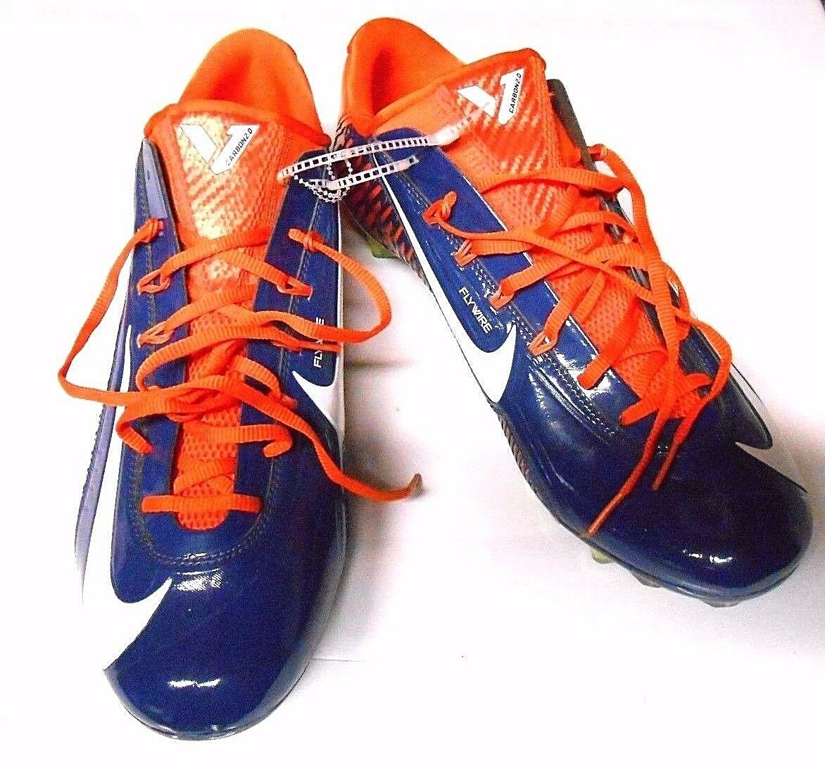 Nike VAPOR CARBON 2.0 Flywire TD Football Cleats BEARS BRONCOS 657441 406 MEN 15