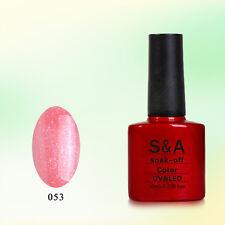 SA053 Bluesky Soak Off UV LED Gel Nail Polish Liquid Pink Gold Glitter