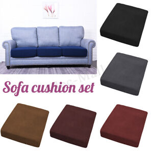 Fabric-Slip-covers-Protector-Replacement-Sofa-Seat-Cushion-Cover-Couch-Stretchy