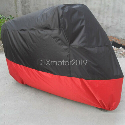 L Black/&Red Waterproof Motorcycle Bike Cover Bag For Yamaha YZF R1 R1S R6 R6S