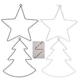 Led Tannenbaum.Details Zu Led Tannenbaum Stern Metall 40er Draht Lichterkette Weihnachtsdeko Leuchtdeko Km