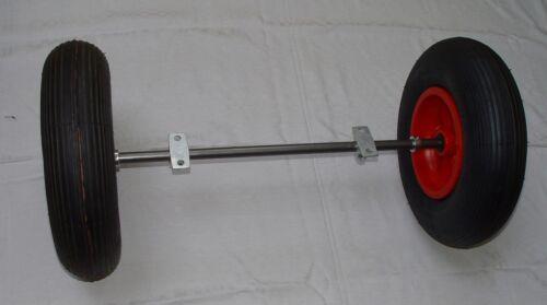 Eje//juego de ruedas 20mm para futterkarre con rueda 400mm luftrad 1200 mm de largo