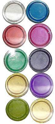 10 x 2g Fairy Dust Pigmente.10 verschiedene Farben im Döschen . (GL)