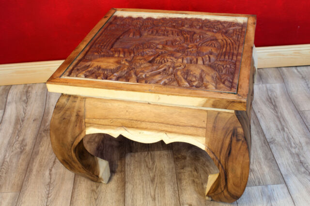 coffee table solid wood 19 1116x19 1116in elephants