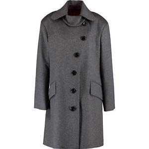 VIVIENNE-WESTWOOD-Red-Label-Women-039-s-Grey-Charcoal-Woolen-Coat-sz-IT-42-UK-10