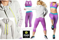 Zumba 3pc.set Instructor Jersey Cardigan Jumper Jacket +capri Leggings +bra Top