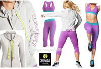 Zumba 3pc.set Instructor Jersey Cardigan Jumper Jacket +capri Leggings +bra Top