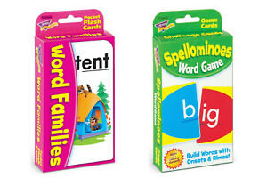 Reading & Spelling Flash Cards Games Pack - Fun Home Learning - For Ages 6+