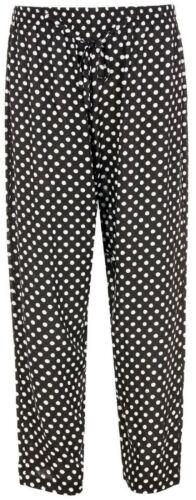 Femmes Entièrement Taille Élastique Coupe Ample Jambe Large Palazzo Pantalon en viscose KEN01