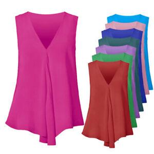 Women-Summer-Chiffon-Sleeveless-Camisole-Blouse-Ladies-Vest-Tops-Tank-Cami-Shirt