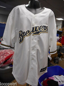 the latest e75eb 8da0c Details about Majestic MLB Youth Milwaukee Brewers Baseball Jersey NWT L