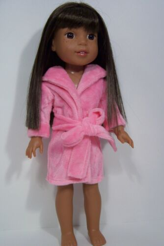 """Debs HOT PINK Bath Robe w// Belt Doll Clothes For AG 14/"""" Wellie Wisher Wishers"""