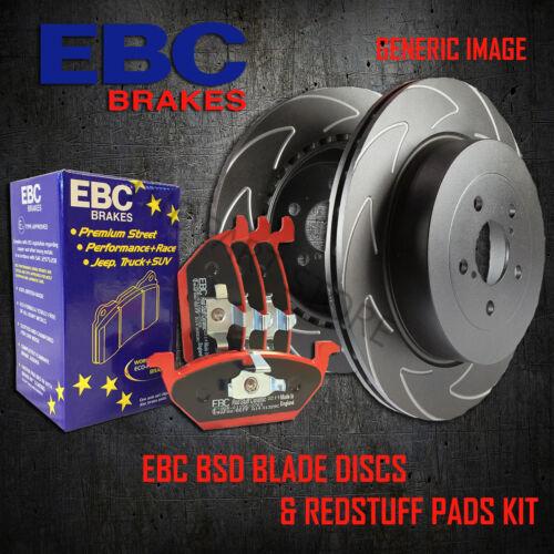 NEW EBC 322mm REAR BSD PERFORMANCE DISCS AND REDSTUFF PADS KIT PD17KR020