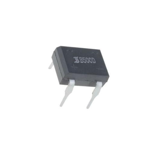 6x B500D-DIO Einphasen Brückengleichrichter Urmax 1kV If 1A Ifsm 40A DIL B500D