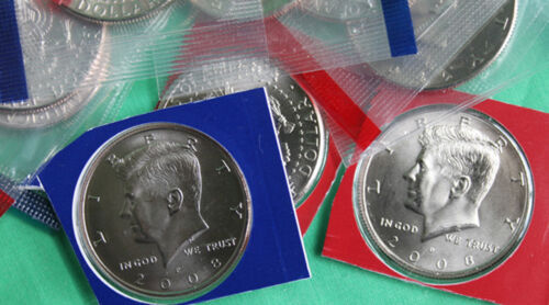 2000 thru 2009 P and D Kennedy Half Dollar Set 20 BU Coins From US Mint Cello