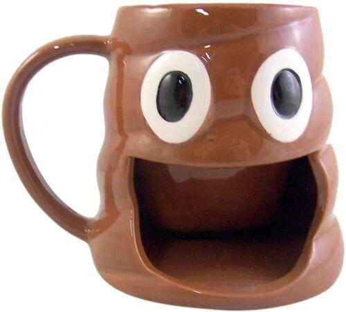 10 Ounce Emoji Coffee Mug with Big Mouth Cookie Holder