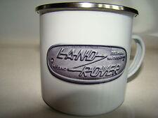 Land Rover Retro Image Enamel Mug Christmas Gift Classic Car Cup Xmas Present