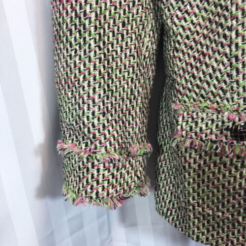 Verde 12 Blazer Taglia Boucle Rosa Nero Avorio Talbots Tweed SwHqZCR0