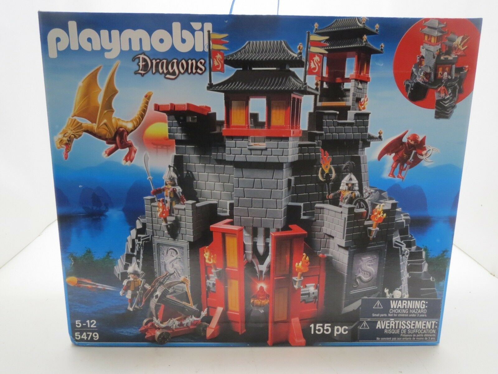 Nouveau Playmobil 5479 Great Asian Dragon Castle  Dragons Warriors 155pc  plus vendu