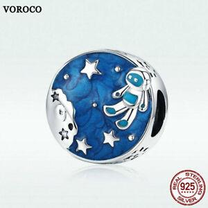 Voroco-S925-Sterling-Silver-Pendant-Stars-Charm-CZ-For-Women-Bracelet-Necklace