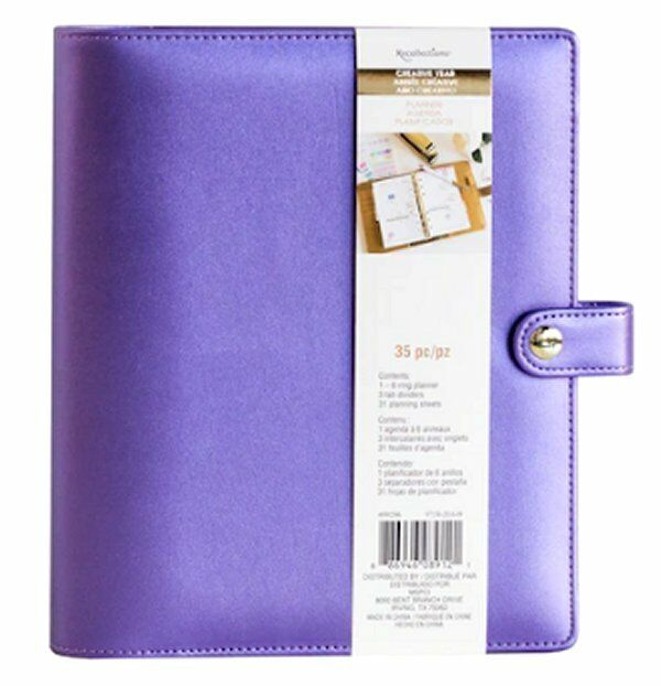 NEW Recollections Creative Year A5 Planner Binder Purple 6