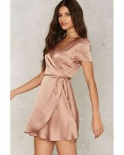 nasty gal Glamorous Have You Ever Mini Dress small mocha new with tags