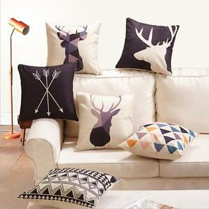 Decor-Pillow-Case-Home-Linen-Geometry-Deer-Nordic-Throw-Cotton-Cover-Cushion-18-034