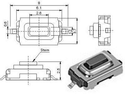 10 Stück Miniatur-Taster Neu  kein Porto superkleine Schalter