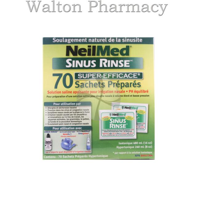 NeilMed Sinus Rinse Hypertonic Refill Pack refill Sachets saline nasal rinse 70