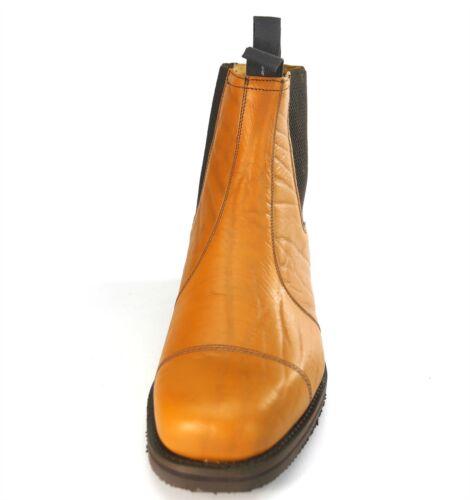 Charles Horrel Handmade in England Welted Cap Chelsea Tan Mustang Dealer Boots