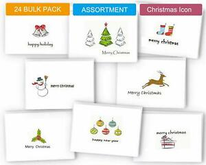 Cute Christmas Cards.Details About Holiday Card Boxed Set 24 Small Christmas Cards Bulk Cute Xmas Cards Blank G