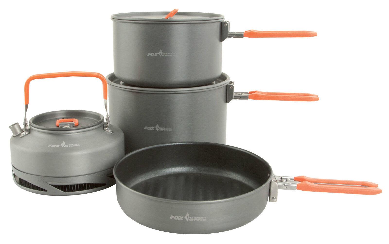 Fox Cookware Set 4 Piece, Kettle, Frying Pan and 2 Saucepans Brand New