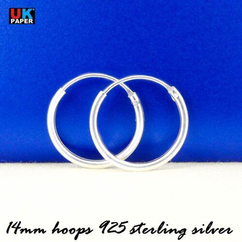 925 STERLING SILVER HOOP SLEEPER EARRINGS 8-70mm SMALL LARGE NOSE SET BALL RINGS