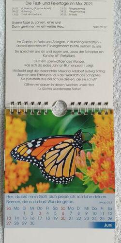 Wand Kalender Aufstellkalender 2021 Kirche Christlich Pflegeheim Oma und Opa