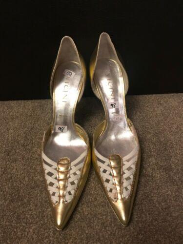 White Ex Party Ladies Size Wedding 40 7 Gold Scarpe Vicini Display usate wtqEa5xCT