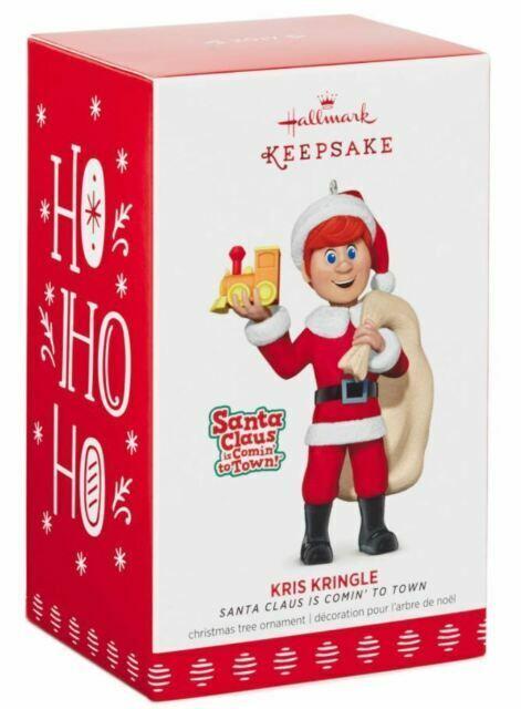 Hallmark 2017 Kris Kringle Santa Claus is coming to town ornament NIB