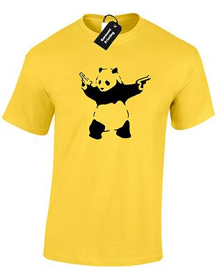 Kids Boys Girls Banksy Panda T-Shirt Urban Graffiti Cool Fashion Tee Top