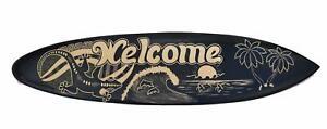Deko Surfboard 100cm Welcome Delfine Meer Surfbrett Südsee Karibik Mare Wellen