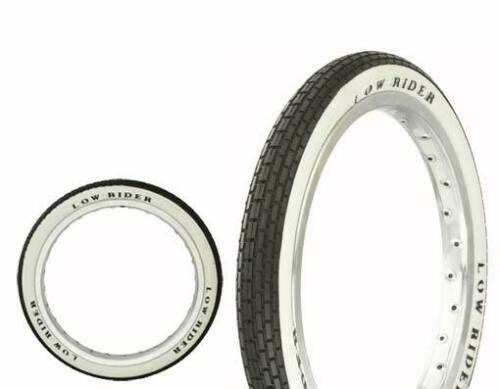"Lowrider Original Bicycle Tire 16/"" x 1.75/"" Black//White Side Wall Brick HF-120A"