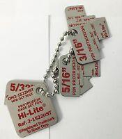 Hi-lite Pin Protrusion Gauges Go-no-go 5/32, 3/16, 1/4, 5/16, & 3/8