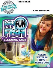 Self Cleaning Fish Tank My Fun Kids Small Aquarium Pet Bowl Desktop Decoration