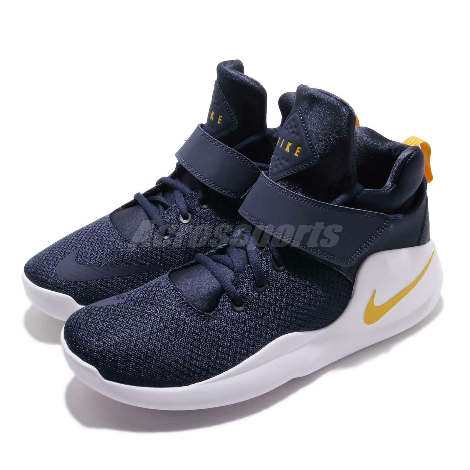 Nike Kwazi Midnight Navy Yellow White Men Basketball shoes Sneakers 844839-401