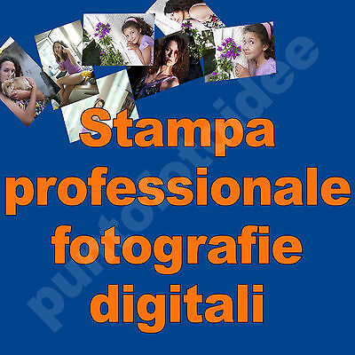 STAMPA PROFESSIONALE 100 FOTO DIGITALI 10x15 CARTA FOTOGRAFICA LUCIDA