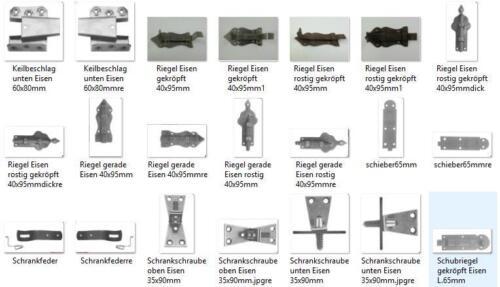 Fitsche  Eisen Scharnier 1 links Schrank+Kommoden Scharniere Möbelbeschläge 6 cm