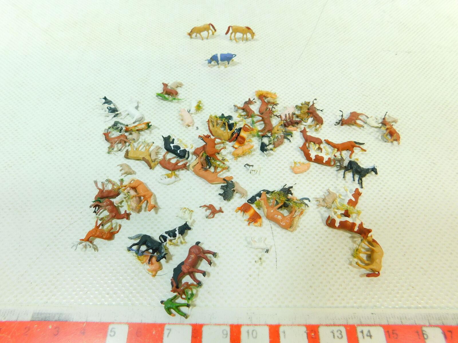 BT979-0,5  80x Spur N Tier-Figur  Kuh  Pferd  Schaf  Ziege etc (Preiser etc)  | Primäre Qualität