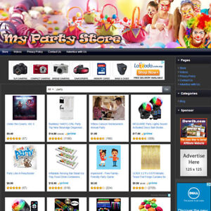 PARTY-SUPPLY-STORE-Online-Affiliate-Business-Website-For-Sale-Free-Domain-Name