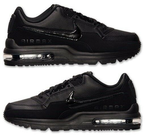 NIKE AIR MAX LTD 3 Homme Noir - Noir LEATHER M RUNNING Chaussures NEW IN BOX Taille